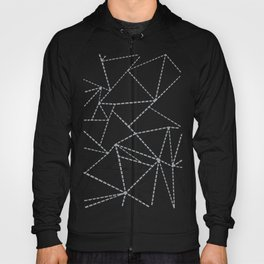Abstract Dotted Lines Grey Hoody