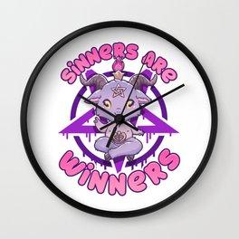 Sinners are Winners - Creepy Cute Baphomet T-Shirt Wall Clock