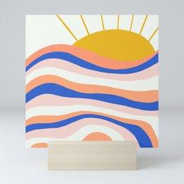 sunrise surf Mini Art Print