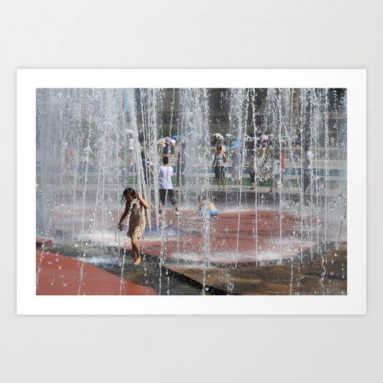 Water Play Art Print