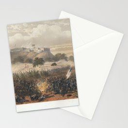 Nebel & Bayot - The Mexican-American War 11: Storming of Chapultepec; Quitman's Attack (1851) Stationery Cards