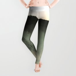 Time Rabbit and mountain water Leggings