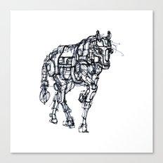 mechanical horse Canvas Print