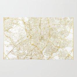 Madrid Map Gold Rug