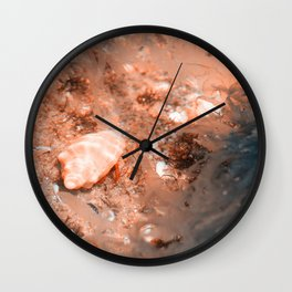 Seashell on the sea bottom Wall Clock