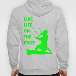 Live Life On The Edge Neon Lime Kitebeach Hoody