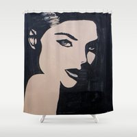 lady Shower Curtains featuring Lady by holland market