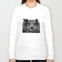 rose Long Sleeve T-shirts featuring YOU'RE THE ORANGE OF MY EYES by Catspaws