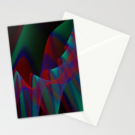 Waves and flow, fractal abstract Stationery Cards