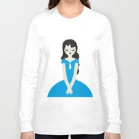 dress Long Sleeve T-shirts featuring Blue dress by Marco Recuero