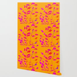 Peaches and Cream Red Leaves Wallpaper