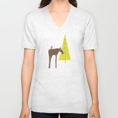 Moose Family 3 Unisex V-Neck
