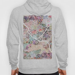 Pittsburgh map - Landscape Hoody