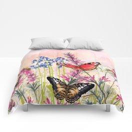 Wild meadow butterflies Comforters