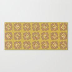 Wheat Check in Mustard Canvas Print