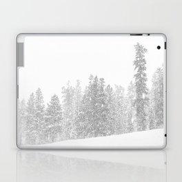Snowy Slope // Mountain Ski Landscape Photography Black and White Snowboarding Winter Decor Laptop & iPad Skin