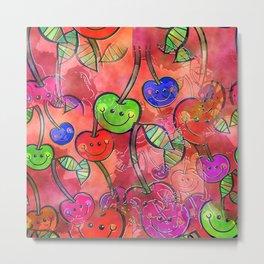 Cherry Watercolor Metal Print