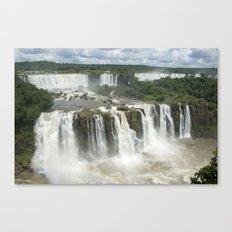 Iguassu Falls Argentina from Brazil Canvas Print