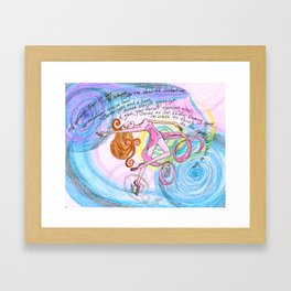 Blitzar Girl Framed Art Print