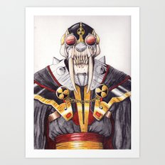 cyber saber toothed Art Print