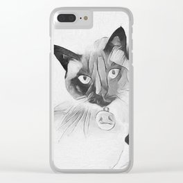 Peek A Boo Kitty Clear iPhone Case