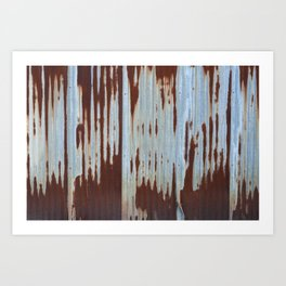 Northport Stripes (23blue) Art Print