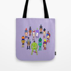 Superhero Power Couple Butts - Violet Tote Bag