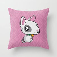 puppy Throw Pillows featuring Puppy by Eye Opening Design