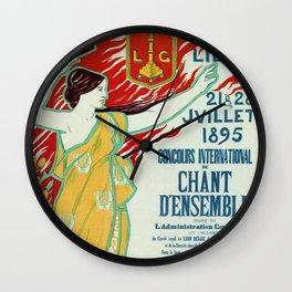 Art Nouveau concert ad Ville de Liège Wall Clock