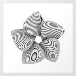Bio Flower Art Print Art Print