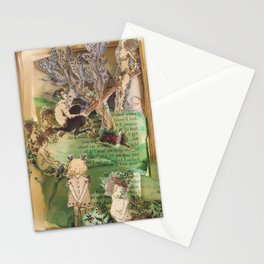 Fairytale Garden | Vintage Book Sculpture with WaterColour Stationery Cards
