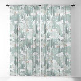 Yellowstone (Moss) Sheer Curtain