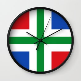 Flag of Groningen (province) Wall Clock