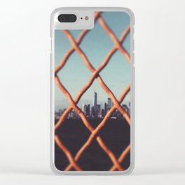 Freedom Tower Visible Through Ferry Gate Clear iPhone Case