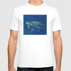 sea turtle  Mens Fitted Tee White MEDIUM
