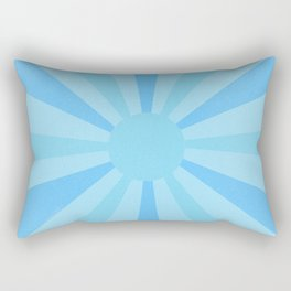 blue sunshine Rectangular Pillow