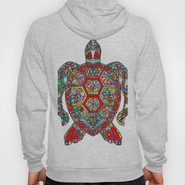 Colorful Sea Turtle Abstract Mandala Hoody