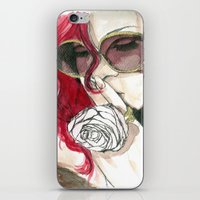 rihanna iPhone & iPod Skins featuring Rihanna by Dee Andrews