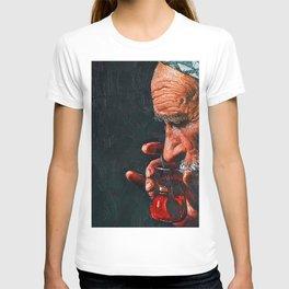 A big man drinks tea T-shirt