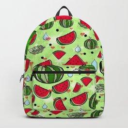 Melon popart by Nico Bielow Backpack