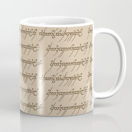Elvish // Tan Coffee Mug