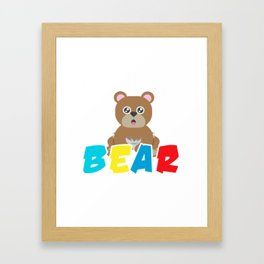 Baby Bear Bears Forest Wildlife Grizzly Bear Wilderness Wild Animal Lovers Gifts Framed Art Print