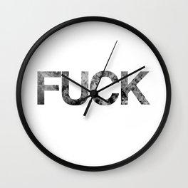 fuck flowers Wall Clock