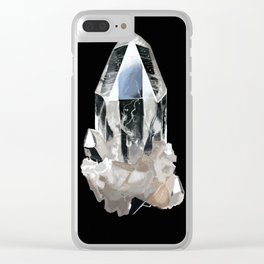 Hand-painted Rock Crystal Clear iPhone Case