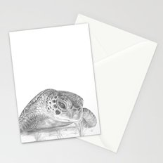 A Green Sea Turtle :: Grayscale Stationery Cards