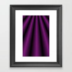 Purple Satin Gown Framed Art Print