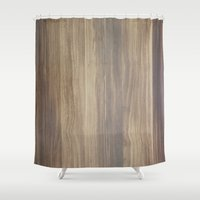 wood Shower Curtains featuring Wood  by Words N Quotes