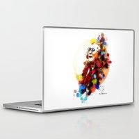 lama Laptop & iPad Skins featuring Dalai Lama by Rene Alberto
