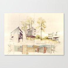 Le Corbusier, Weißenhofsiedlung Canvas Print
