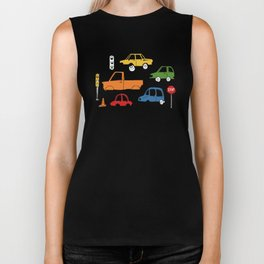 Busy Traffic Pattern Biker Tank
